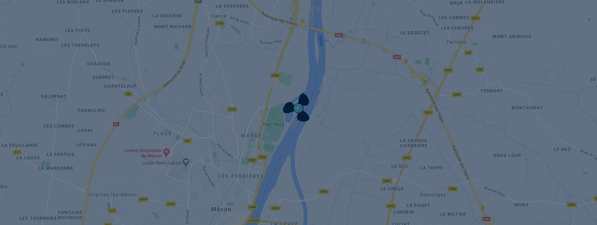 Bateau-concept Mâcon - Google Map