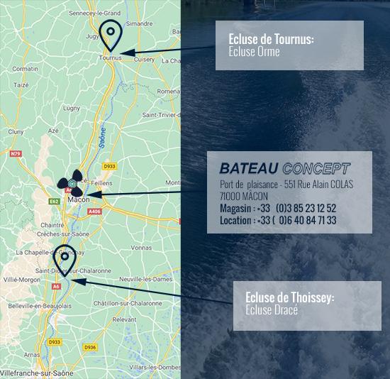 Bief de navigation - Location de Bateaux Mâcon